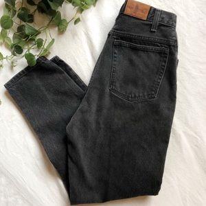 Denim - High Waisted Vintage Black Denim Jeans